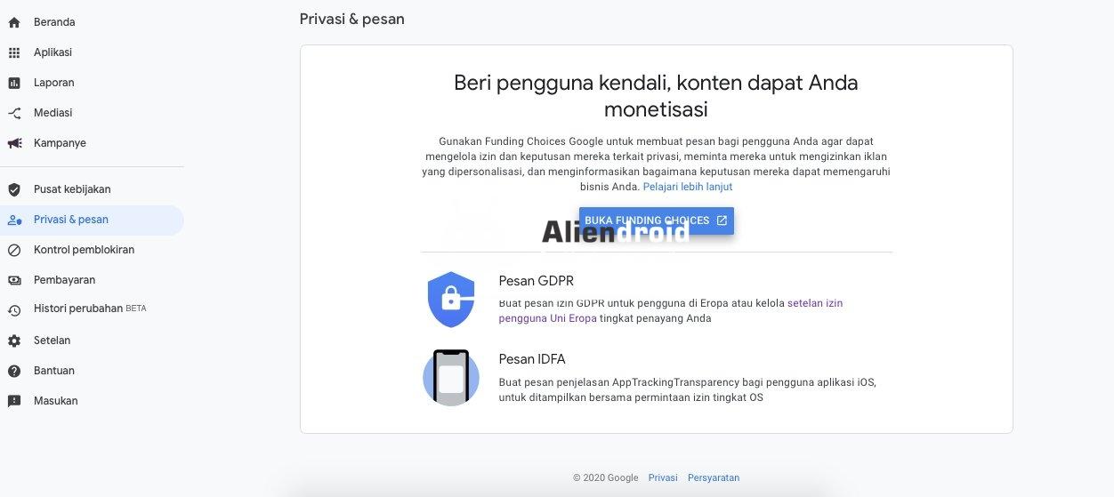 Konfigurasi GDPR pada dasboard Admob dan menambahkan consents SDK GDPR pada aplikasi Android